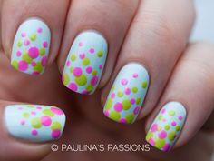 Paulina's Passions: Spring Polka Dots Nails