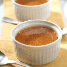 Without a crust, these single-serve Individual Pumpkin Custards are delightfully easy to make - and lower in calories, too! In addition, the filling can be made and frozen for up to one month.