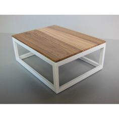 STAX Coffee Table in Rust miniatures modern coffeetable stack