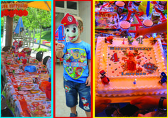 Il Paw Party! Tavola Paw Patrol Il festeggiato La torta!!!