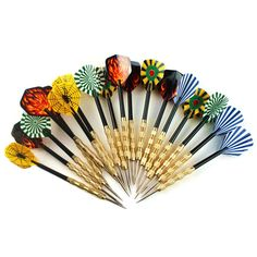18pcs/lot Steel Copper Needle Tip Dart Darts With Nice Flight Flights Throwing Toy shipping
