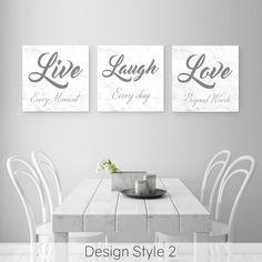 Live Laugh Love Wall Decor   Home Decor Wall Decor Quotes, Home Decor Wall Art, Room Decor, Live Laugh Love Quotes, Love Wall, Woodland Nursery Decor, Canvas Designs, Love Signs, Corner Designs