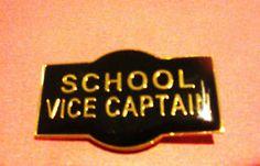 School Vice Captain Badge PIN Black Enamel | eBay