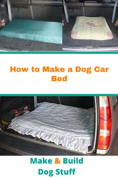 Learn how to easily make a dog car bed. Dog car beds are great for not only long travel but short travel too! Make Build, How To Make Bed, Diy Dog Bed, Dog Beds, Car Bed, Ocean Crafts, Dog Car, Craft Activities, Dog Stuff
