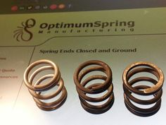 Inconel 718 compression spring with ends closed and ground