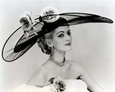 Carmen is wearing this beautiful chiffon hat decorated with silk roses called `Royal Garden Party' and belongs to Mr John's `Coronation of Spring and Summer' collection from Carmen Dell'orefice, Mode Vintage, Vintage Vogue, Vintage Fashion, Royal Garden, Love Hat, Silk Roses, Kentucky Derby, Fashion History