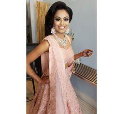 Shreya on her reception. .loved her wedding outfit by @wellgroomedinc by iamjennywu