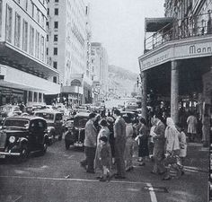 Strand Street, Cape Town (1950's). Cities In Africa, Most Beautiful Cities, Historical Pictures, Africa Travel, Cape Town, Old Houses, South Africa, Street View, Afrikaans