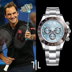 Roger Federer during the 2019 Hopman Cup while Roger was wearing a Rolex Cosmograph Daytona in Platinum with an ice-blue dial and chestnut brown ceramic bezel. Presenting the finest Men's Watches collection inspiration sharing. Best gift for men in fine suits. #Accessory #Craftsmanship #WatchesForMen #BraceletsForMen #Azuro #AzuroRepublic #Lifestyle #Menstyle #Mensfashion #Mensaccessories #Menswear #Gentleman #MensWatch #Rolex #PatekPhilippe #AP #Tissot #Omega #Citizen #Mensbeadedbracelet Rolex Watches For Men, Cool Watches, Men's Watches, Rolex Cosmograph Daytona, Rolex Submariner, Handmade Bracelets, Bracelets For Men, Beaded Bracelets, Best Watch Brands