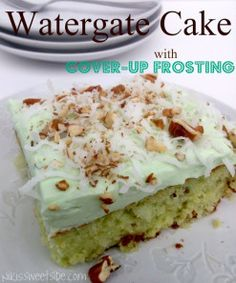 Watergate Cake with Cover-up Frosting by Niki's Sweet Side