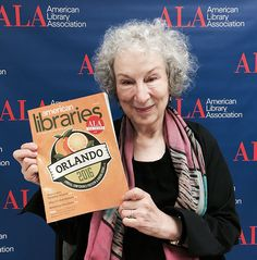 Canadian novelist Margaret Atwood at the 2016 ALA Annual Conference.