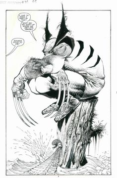 Marvel Comics Presents # 119 interior art by Sam Kieth Marvel Wolverine, Marvel Art, Marvel Comic Books, Comic Book Heroes, Comic Books Art, Comic Book Artists, Comic Artist, Bd Comics, Manga Anime