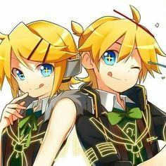 Oh... The kagamine twins <3