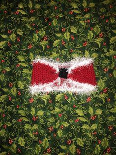 A personal favorite from my Etsy shop https://www.etsy.com/listing/478044220/crochet-santa-baby-girl-headband-ear