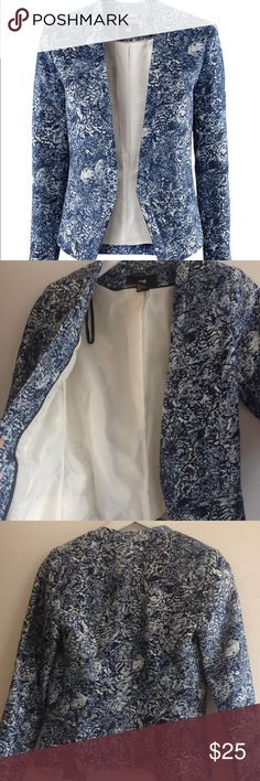 Chic blue blazer Shell 85% cotton 15% linen lining 100% polyester FINAL PRICE ENDLESS BUNDLED H&M Jackets & Coats Blazers