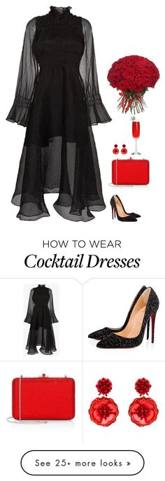 """""""#6810"""" by azaliyan on Polyvore featuring Beaufille, Christian Louboutin, Judith Leiber and Mignonne Gavigan"""