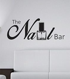 the nail bar nail tech store business logo version 101 decal sticker wall nail salon designnail - Nail Salon Logo Design Ideas