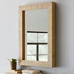 Parsons Wall Mirror - Natural Grass Cloth #WestElm