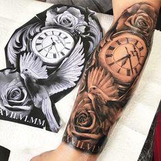 63 New Ideas Tattoo Sleeve Clock Beautiful - 63 New Ideas Tattoo Sleeve Clock . - 63 New Ideas Tattoo Sleeve Clock Beautiful – 63 New Ideas Tattoo Sleeve Clock Beautiful - Dove Tattoos, Forarm Tattoos, Forearm Sleeve Tattoos, Best Sleeve Tattoos, Tattoo Sleeve Designs, Tattoo Designs Men, Leg Tattoos, Body Art Tattoos, Clock Tattoo Sleeve