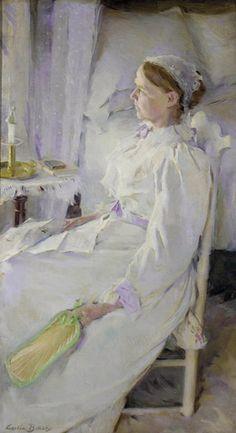 """New England Woman,"" Cecilia Beaux, 1895, oil on canvas, 43 x 24 1/4"", Pennsylvania Academy of the Fine Arts."