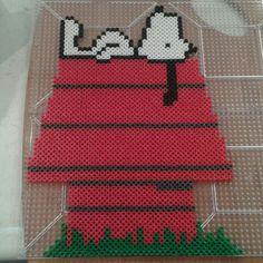 Snoopy Peanuts perler beads by Eleka Peka