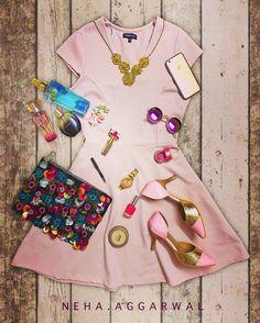 #LookYourBestIn a Pink Skater Dress