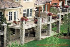 Stone Deck SUPPORTS | Iron Stone Deck™ Photo Gallery