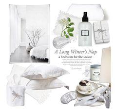 """Winter White Bedding!"" by eyesondesign ❤ liked on Polyvore featuring interior, interiors, interior design, home, home decor, interior decorating, Andrea & Joen, TastemastersDesignGroup and eyesondesigninteriors"