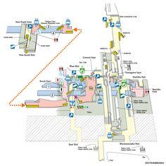 Shibuya Station Map