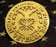 United States Air Force Veteran Plaque by BrowniesWoodcrafts, $20.00