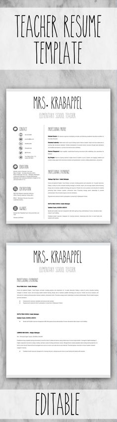 31 best Teacher resume template images on Pinterest | Resume, Gym ...