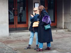 Bright accents at Stockholm Fashion Week Street Style