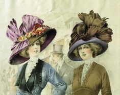 1911 Large picture hats
