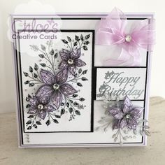Stamps by Chloe - Fabulous Flower Panel - - As Seen on TV - Chloes Creative Cards Birthday Card Sayings, Birthday Cards For Women, Wedding Cards Handmade, Handmade Birthday Cards, Chloes Creative Cards, Stamps By Chloe, Create And Craft Tv, Birthday Crafts, Flower Birthday