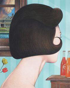 Girl With Hairdo. Doug Smock.  Society 6.
