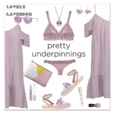 """The Prettiest Underpinnings"" by ellie366 ❤ liked on Polyvore featuring Hanky Panky, Joie, Roberto Cavalli, RED Valentino, Marni, Ray-Ban, Oribe, Tory Burch, Urban Decay and espadrilles"