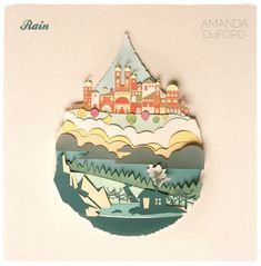 Gorgeous! Album cover with color paper art, #design #paper #color