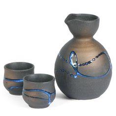 3-Piece Splatter Sake Set