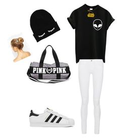"""""""Untitled #9"""" by saroonz2005 ❤ liked on Polyvore featuring Frame Denim, adidas, Chicnova Fashion, ALDO, women's clothing, women, female, woman, misses and juniors"""