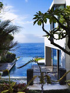 Tropical feel.