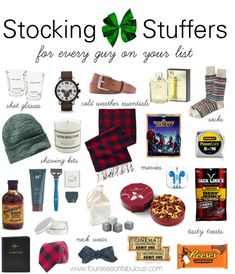 Christmas Stocking Stuffer Ideas For Him There S Some Great Stuff In Here Diy Gift Pinterest Stuffers