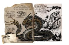 The Basilisk from Ark: Aberration , Fantasy Creatures, Mythical Creatures, Game Ark Survival Evolved, Mythological Animals, Dinosaur Posters, Monster Book Of Monsters, Prehistoric Creatures, Amazing Drawings, Dragon Art