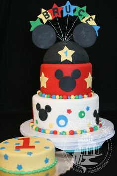 mickey mouse cake | Mickey Mouse 1st Birthday Cake | Ph.D.-serts & Cakes