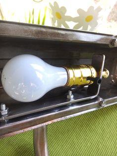 corvette script wall mounted finned valve cover lamp polished aluminum