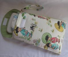 Diaper Wristlet in Michael Miller Cream China Doll see by MushyBug, $12.00