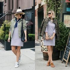 Outfit Remix: French Connection Striped Dress, Two Ways (My Style Pill) Work Fashion, Fashion 2017, Camo Dress, Shirt Dress, Transitional Style, Personal Stylist, Striped Dress, What To Wear, French Connection