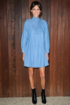 Best dressed - Alexa Chung in an AG Denim dress - click through to see this week's best dressed list