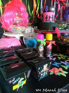 JUST DANCE PARTY....FLUOR FEST Birthday Party Ideas   Photo 5 of 13   Catch My Party
