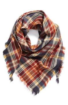 BP. 'Heritage Plaid' Triangle Scarf available at #Nordstrom