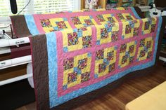 Disappearing Nine Patch Full Sized Bed Quilt.   #GrammiesFunTime... AMAZING quality/colors OOAK Etsy USA.. WONDERFUL Country home decor